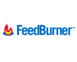 The logo for Google's Feedburner RSS service